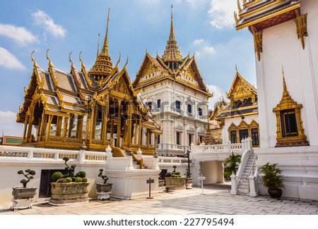 Phra Thinang Dusit Maha Prasat in Royal Palace Bangkok, Thailand - stock photo