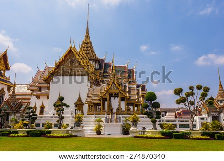 Phra Thinang Dusit Maha Prasat in Royal Palace Bangkok, Thailand - stock photo