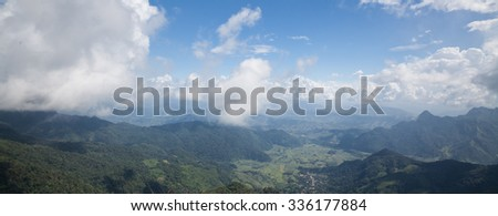 Phu chee fah mountain was the famous place to see mist view