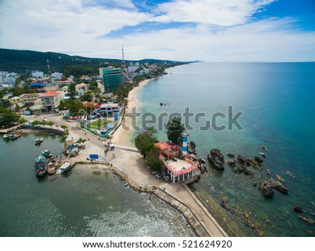 Phu Quoc island from drone. Kien Giang, Vietnam
