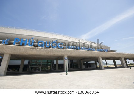 PHU QUOC, VIETNAM - FEBRUARY 26: Phu Quoc International Airport on February 26, 2013 in Phu Quoc, Vietnam. The Airport was completed in November 2012 and was put into operation on 2 December 2012