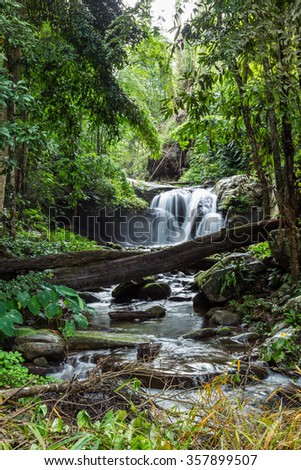 Phu Soi Dao waterfall at Phu Soi Dao National park, thailand