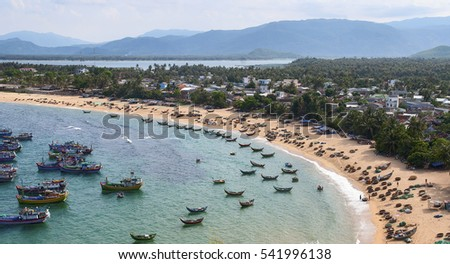 PHU YEN, Vietnam, November 21, 2016 Bay, Phu Yen sea, central Vietnam