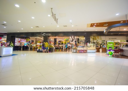 Phuket, 22 May 2014: First floor of Central Festival with food mall at Phuket Town, Phuket province, Thailand. - stock photo