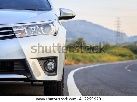 PHUKET, THAILAND - APRIL 22 : Private car, Toyota Corolla Altis parking on the asphalt road in Phuket on April 22, 2016. The official dealer of Toyota, who is the top market share for commercial car.