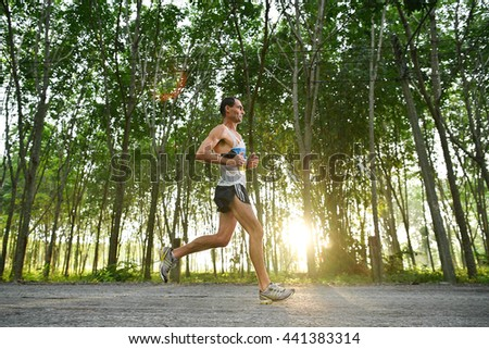 PHUKET,THAILAND-MAY 05:Mike Harvey9 from Austria run during the Laguna Phuket International marathon at Laguna Phuket Resorts and Hotels on May 05, 2016 in Phuket,Thailand. - stock photo
