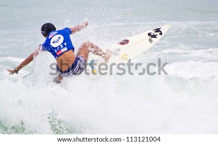 PHUKET THAILAND-SEPTEMBER 15: Yasnyiar Gea from Indonesia  in ASC/ISC Women's Division 2012, at Quiksilver Open Phuket Thailand 2012, on September 15, 2012 at Patong Beach in Phuket Thailand.
