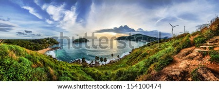 Phuket viewpoint andaman sea, Thailand - stock photo