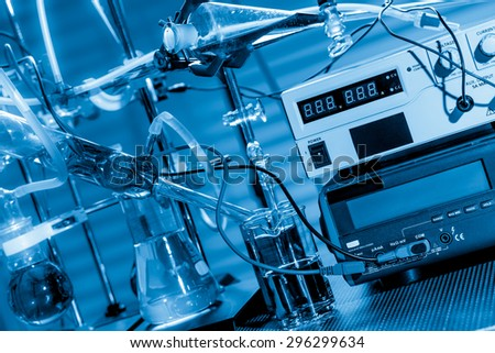 Physical chemistry laboratory equipment - stock photo