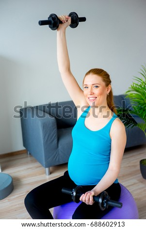 Physical exercises for a pregnant woman