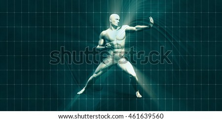 Physical Training for Motivation and Inspiration Art 3D Render