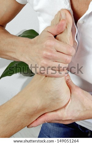 physiotherapy of the feet  - stock photo