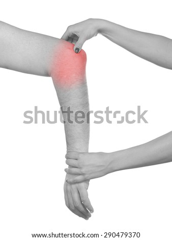 Physiotherapy treatment for  elbow pain, aches and tension. It  is also used for prevention and treatment in competitive sports.