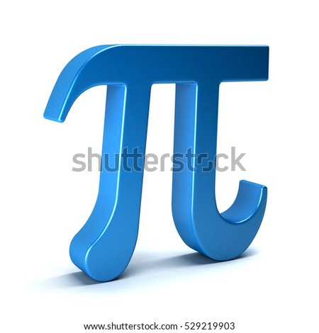 Pi Number Mathematical Symbol On White Stock Illustration 529219903
