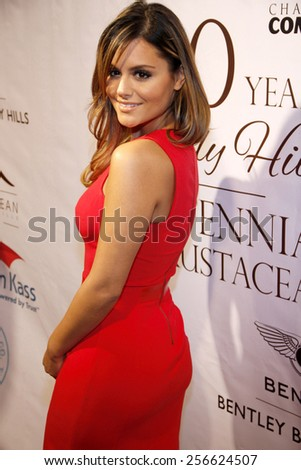 Pia Toscano at the City of Beverly Hills Centennial Anniversary held at the Crustacean in Los Angeles on February 5, 2014 in Los Angeles, California.