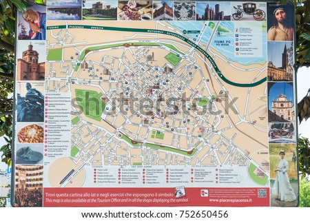Piacenza Italy April 20 2017 Tourist Stock Photo Royalty Free
