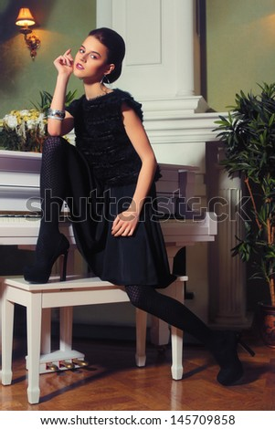 Pianist  - stock photo