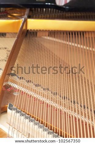 Piano detail - stock photo