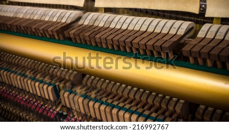 Piano Hammers, inside of a Piano