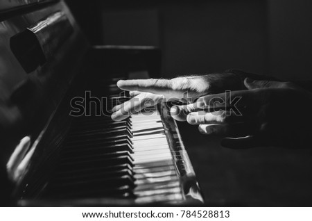 piano, hands, musical instrument