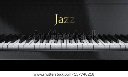 Piano Jazz - stock photo