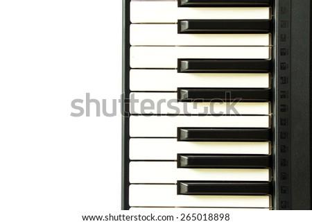 Piano key - stock photo