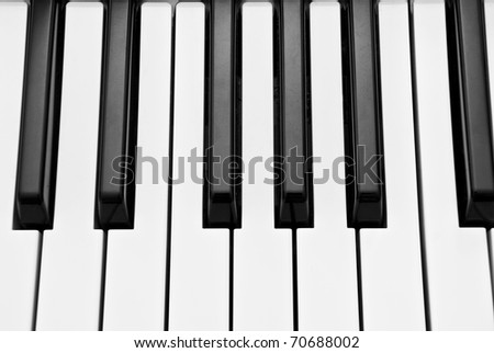 piano keyboard as a background