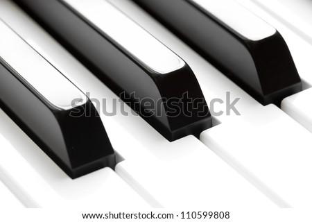 piano keyboard macro - stock photo