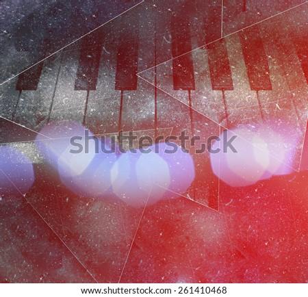 Piano keys background - stock photo