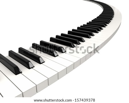 piano keys clipping path included stock photo. Black Bedroom Furniture Sets. Home Design Ideas