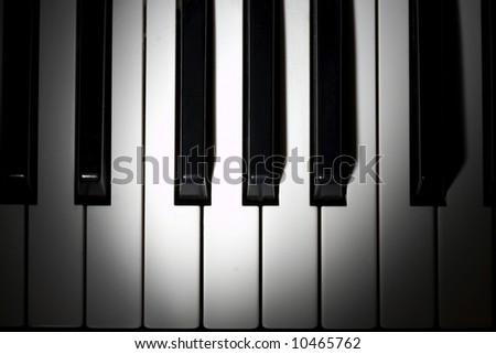 piano keys closeup - stock photo