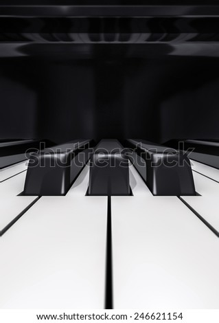 Piano keys closeup - stock photo