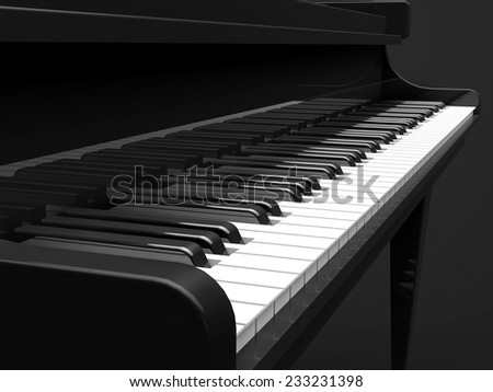Piano Without Black Keys Piano Keys Closeup in Black