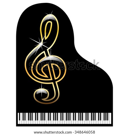Piano-musical instrument - stock photo