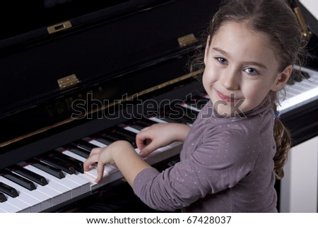 Piano player - stock photo