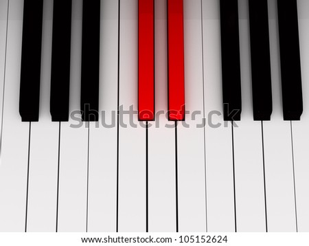 Piano red key