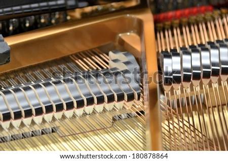 Piano Strings - stock photo