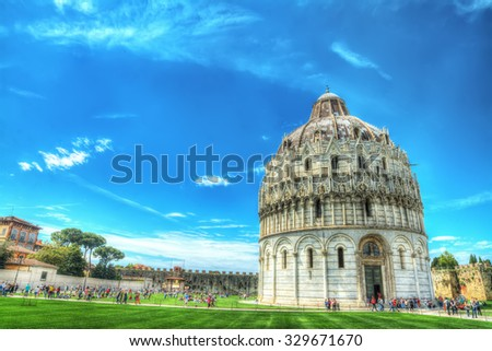 Piazza dei Miracoli in Pisa, Italy - stock photo