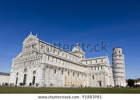 Piazza dei Miracoli of PISA in Italy