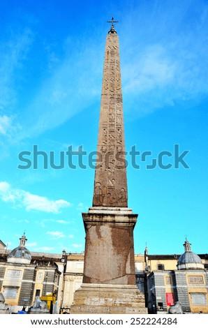 Piazza del Popolo in Rome, Italy  - stock photo