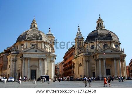 Piazza del Popolo, Rome, Italy - stock photo