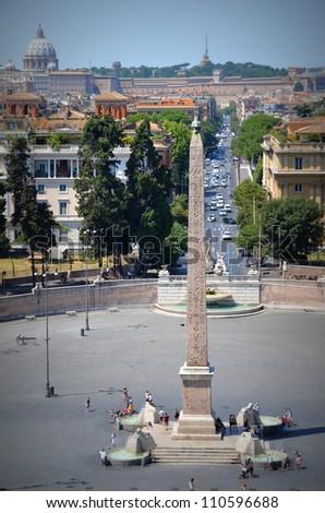 Piazza di Popolo, Rome - stock photo