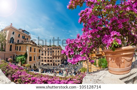 Piazza di Spagna in Rome, Italy - stock photo