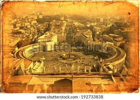 Piazza San Pietro in Vatican City, Rome, Italy - stock photo