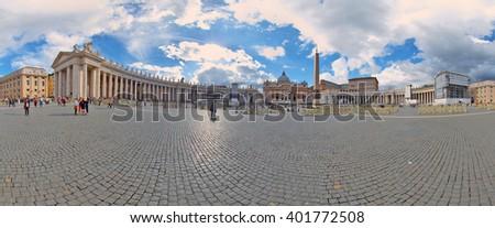 Piazza San Pietro (St.Peter's Square), Vatican City, Rome, Italy - stock photo