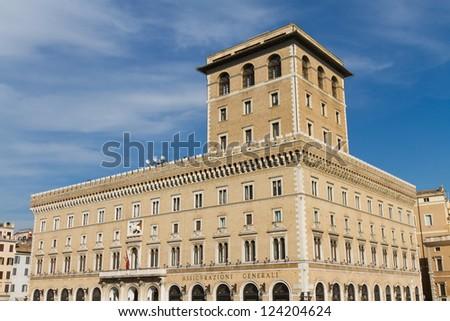 Piazza Venezia, Rome, Italy - stock photo