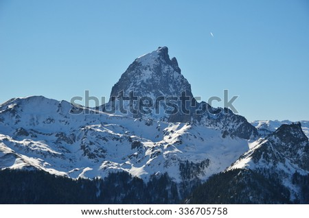 Pic du Midi d'Ossau is a symbol of the French side of the Pyrenees.