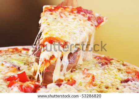 pica slice - stock photo