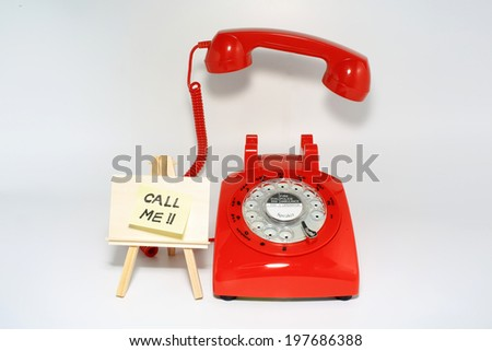 pick up the phone call when you receive memo - stock photo