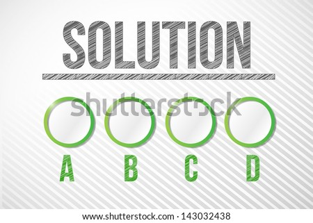 pick your appropriate solution illustration design graphic - stock photo